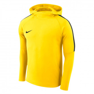 Sudadera  Nike Academy 18 Hoodie Tour yellow-Anthracite-Black