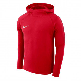 Sudadera  Nike Academy 18 Hoodie University red-Gym red-White