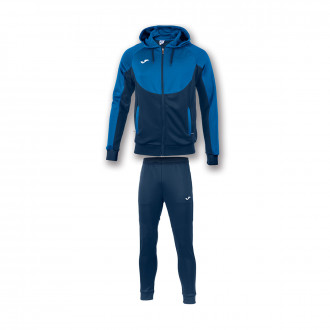 Tracksuit Joma Con Capucha Essential Royal-Navy blue