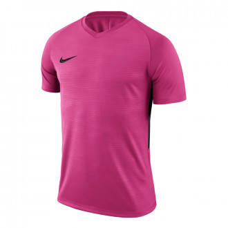 Camiseta  Nike Tiempo Premier m/c Vivid pink-Black