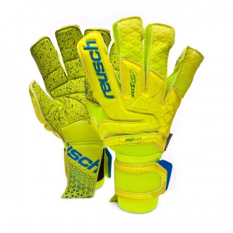 Luvas  Reusch Fit control Supreme G3 fusion Lime-Safety yellow