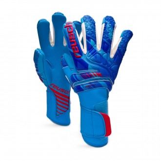 Glove  Reusch Fit Control Pro AX2 Evolution White-Aqua blue