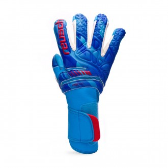 Guante  Reusch Fit Control Pro AX2 Evolution White-Aqua blue