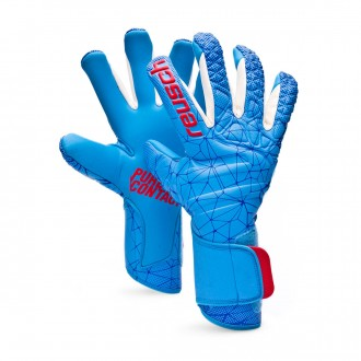 Luvas  Reusch Pure Contact II AX2 White-Aqua blue