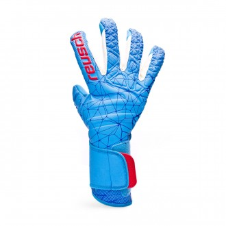 Guante  Reusch Pure Contact II AX2 White-Aqua blue