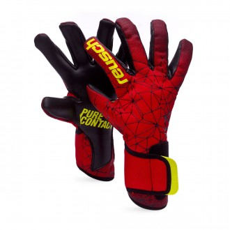 Luvas  Reusch Pure Contact II R3 Black-Fire red