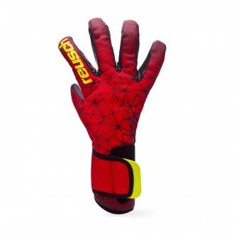 Glove Reusch Pure Contact II R3 Black-Fire red