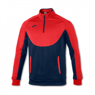 Sweat Joma Essential 1/2 Fermeture Rouge-Bleu marine
