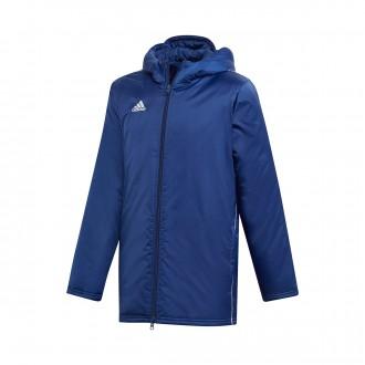 Abrigo  adidas Core 18 Stadium Niño Dark blue-White