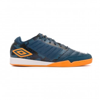 Sapatilha de Futsal Umbro Chaleira Pro IC Navy-Gold