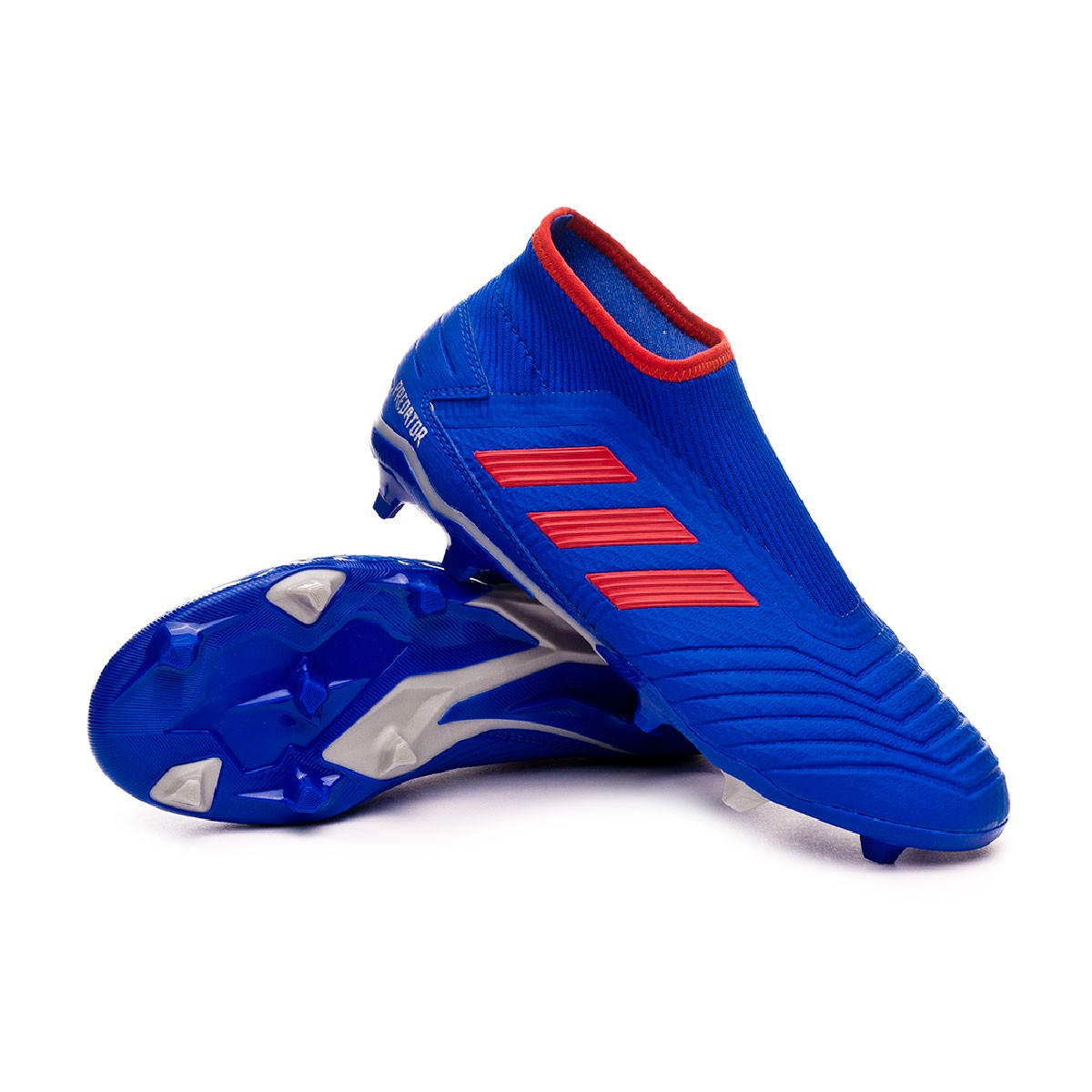 34f3541aa027 Football Boots adidas Predator 19.3 FG LaceLess Bold blue-Active red ...
