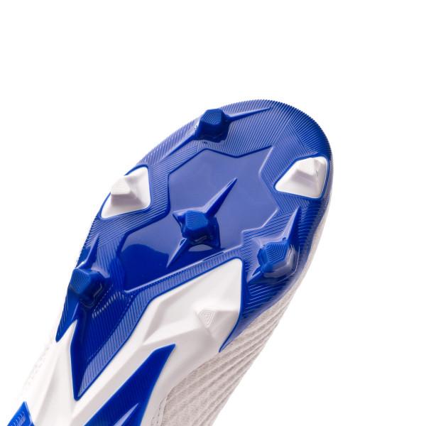 8f1db49b6 Football Boots adidas Predator 19.3 FG LaceLess White-Silver metallic-Bold  blue - Tienda de fútbol Fútbol Emotion