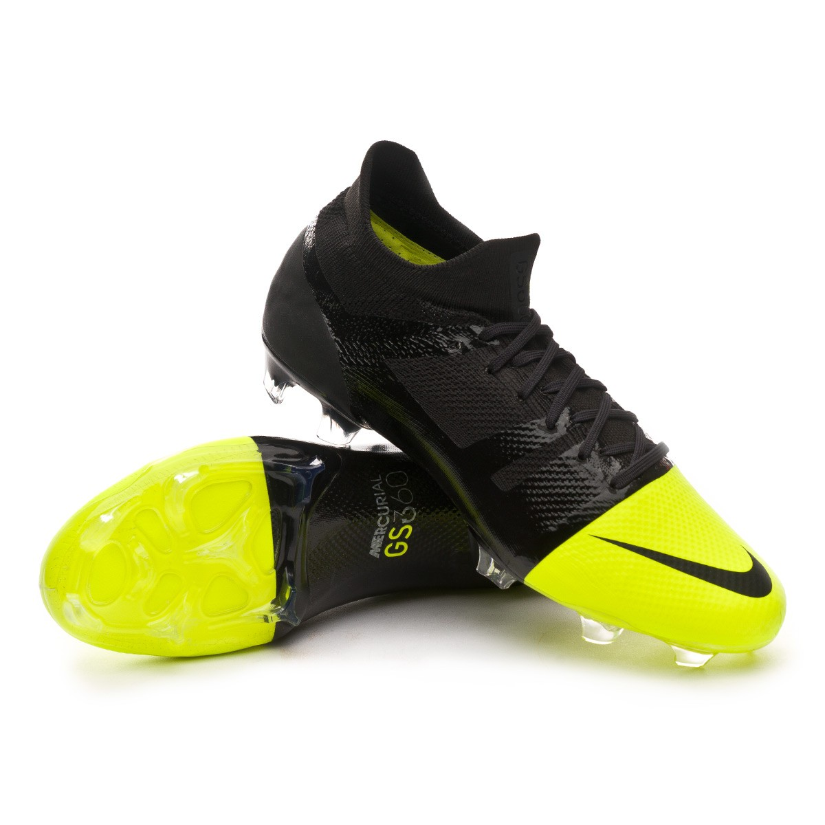 brand new 1638c 8d139 Scarpe Nike Mercurial GreenSpeed 360 FG Black-Metallic silver-Volt -  Negozio di calcio Fútbol Emotion