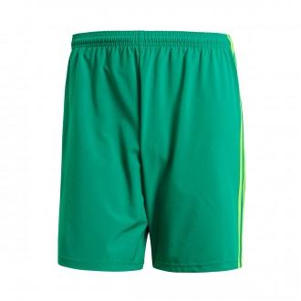 Pantalón corto  adidas Condivo 18 Bold green-Solar green