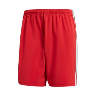 Pantalón corto  adidas Condivo 18 Power red-Energy aqua