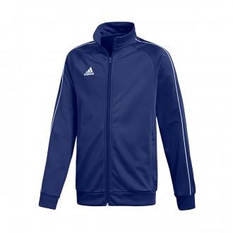 Casaco  adidas Core 18 Polyester Niño Dark blue-White