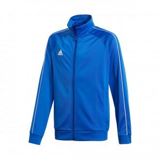 Casaco  adidas Core 18 Polyester Niño Bold blue-White
