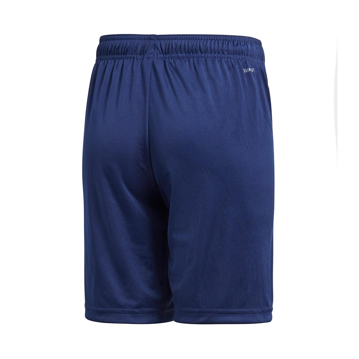 Bermuda Shorts adidas Kids Core 18 Training Dark blue-White - Leaked soccer 3483f9542