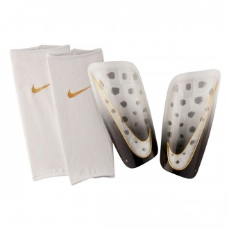Shinpads  Nike Mercurial Lite White-Black-Metallic vivid gold