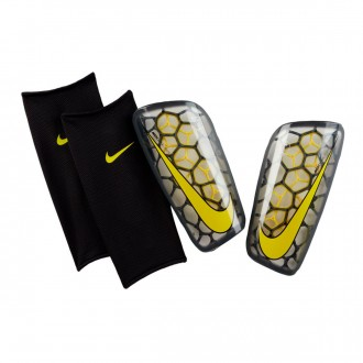 Espinillera  Nike Mercurial Flylite SuperLock Anthracite-Optical yellow