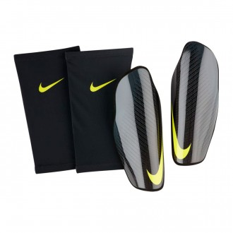 Espinillera  Nike Attack CF Elite Carbon-Anthracite-Optical yellow