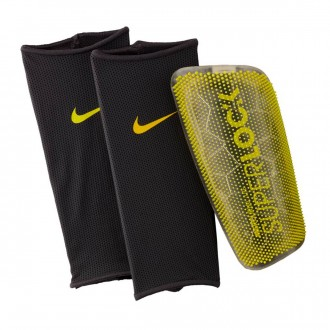 Shinpads  Nike Mercurial Lite SuperLock Anthracite-Optical yellow-Black