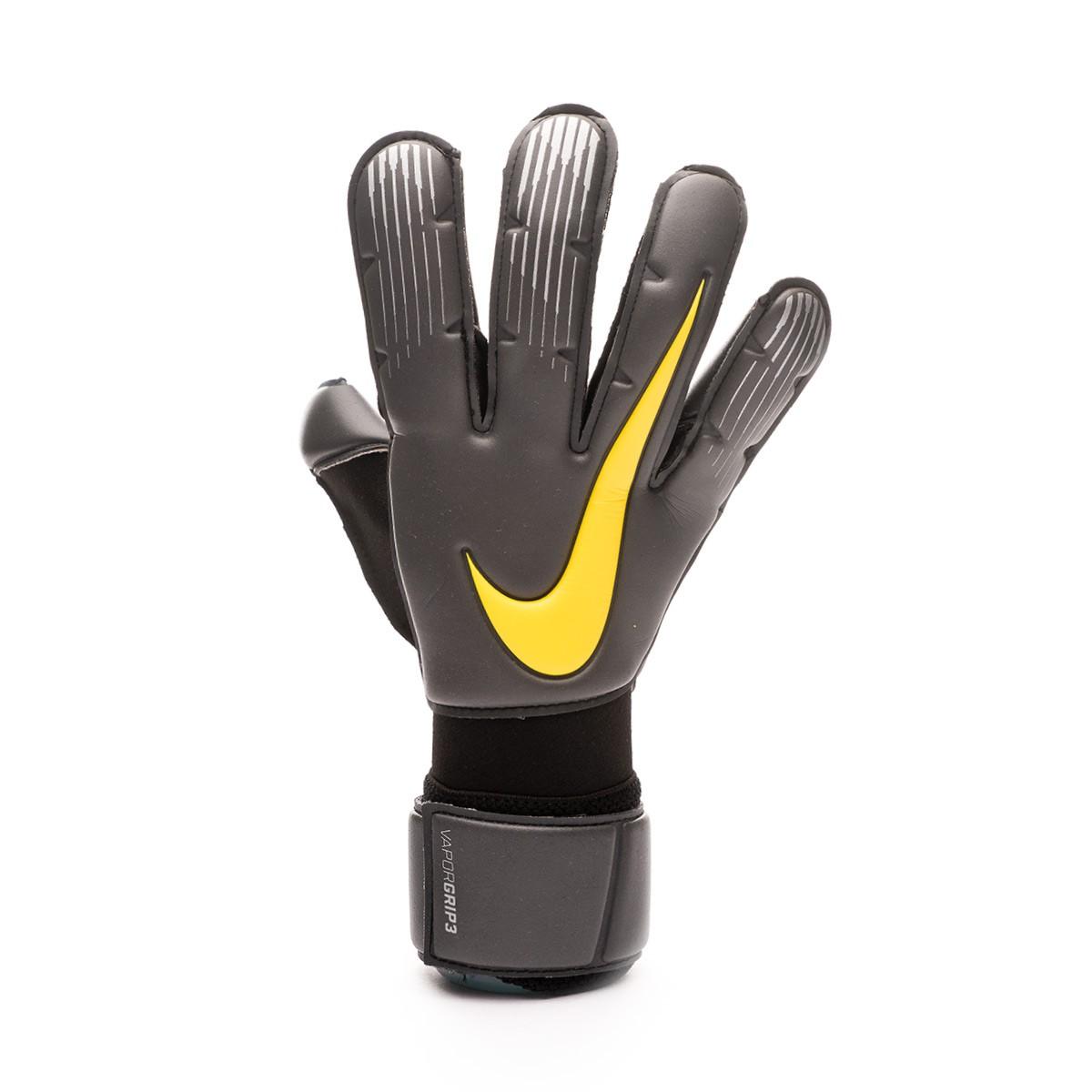 tofu suma lógica  Guante de portero Nike Vapor Grip 3 Anthracite-Black-Optical yellow -  Tienda de fútbol Fútbol Emotion