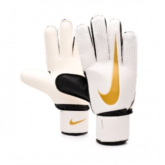 Glove  Nike Match White-Black/-Metallic vivid gold