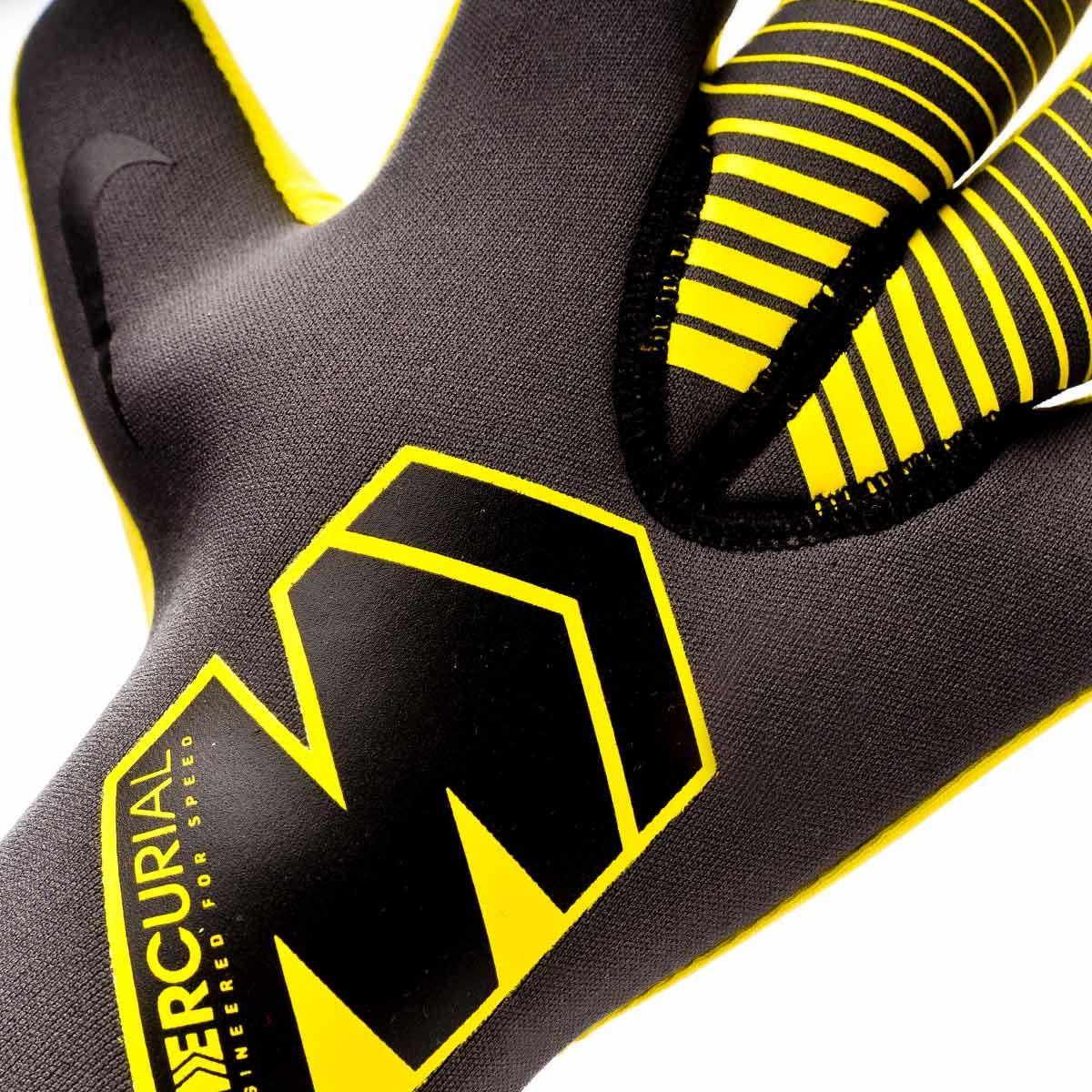 Observar sátira No de moda  Glove Nike Mercurial Touch Victory Anthracite-Black-Optical yellow -  Football store Fútbol Emotion