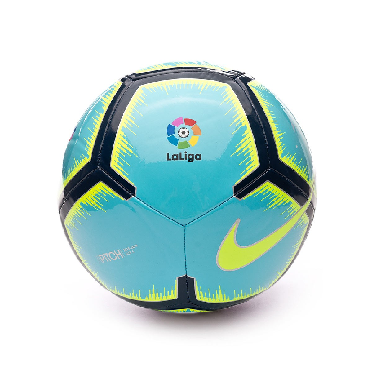 99aca258f9b3f Bola de Futebol Nike LaLiga Pitch 2018-2019 Polarized blue-Navy-Volt ...