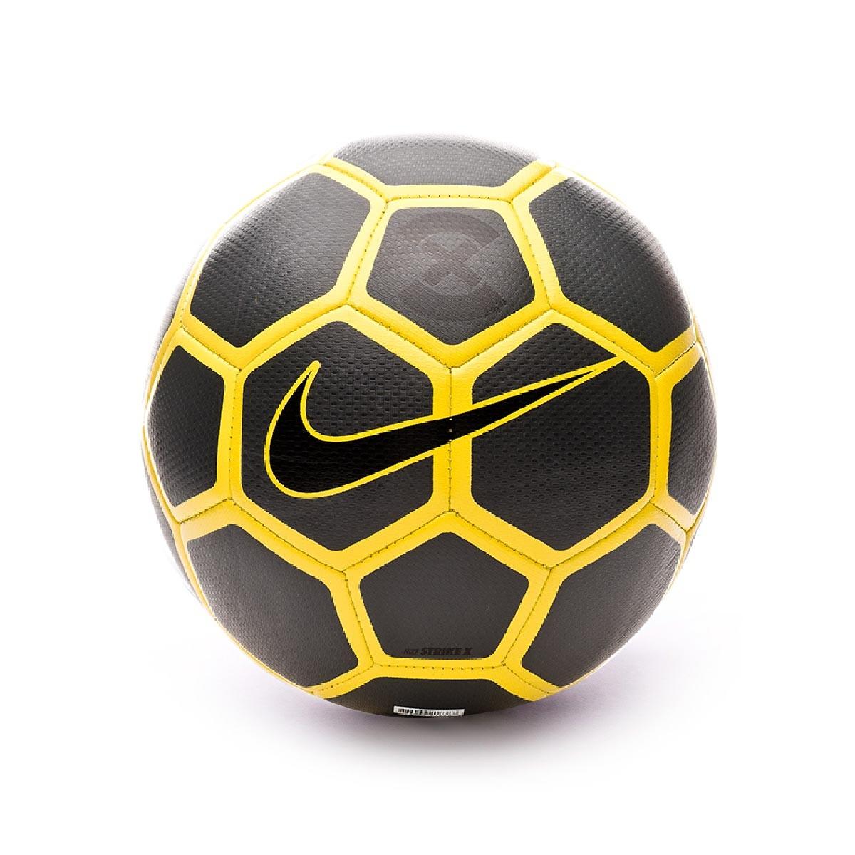 Amargura Penélope Consciente  Ball Nike Strike X 2018-2019 Anthracite-Optical yellow-Black - Football  store Fútbol Emotion
