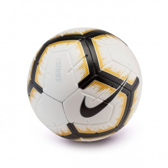 Balón Nike Strike 2018-2019 White-Black-Metallic vivid gold-Black