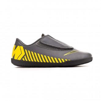 Zapatilla  Nike Mercurial Vapor XII Club IC Niño Dark grey-Black-Optical yellow