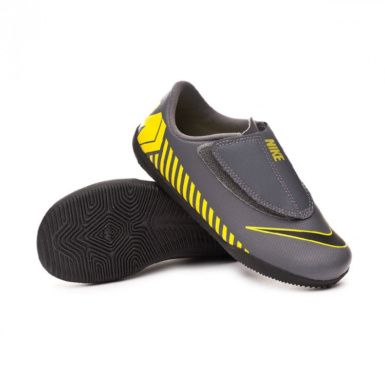 reputable site 9e288 b41cf Zapatilla Mercurial Vapor XII Club IC Niño Dark grey-Black-Optical yellow
