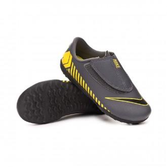 Football Boot  Nike Mercurial Vapor XII Club Turf Niño Dark grey-Black-Optical yellow