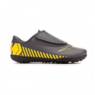 d241e838f9 Oferta. Zapatilla Nike Mercurial Vapor XII Club Turf Niño Dark  grey-Black-Optical yellow