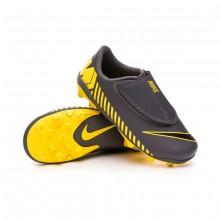 Bota Mercurial Vapor XII Club MG Niño Dark grey-Black-Optical yellow