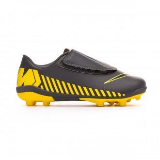 Chuteira Nike Mercurial Vapor XII Club MG Crianças Dark grey-Black-Optical yellow