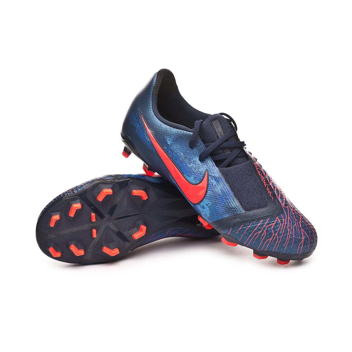 b27d51d5e95 Football Boots Nike Kids Phantom Venom Elite FG Obsidian-White-Black-Racer  blue - Football store Fútbol Emotion