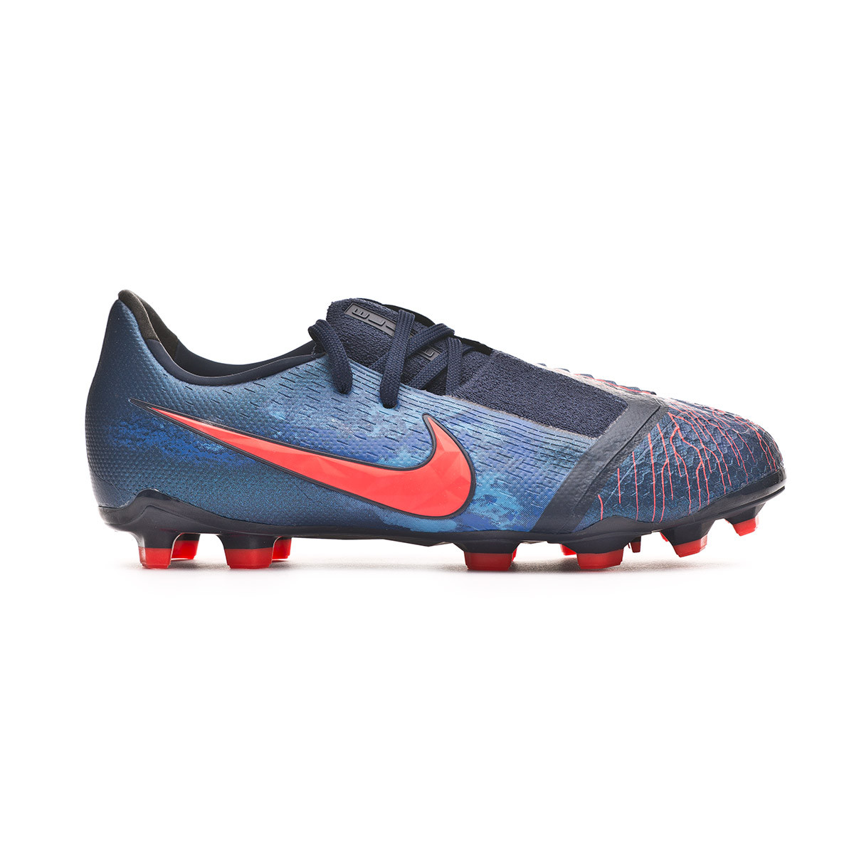 a09373a9b9 Football Boots Nike Kids Phantom Venom Elite FG Obsidian-White-Black-Racer  blue - Football store Fútbol Emotion