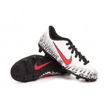 Bota Mercurial Vapor XII Club FG Neymar Jr Niño White-Challenge red-Black