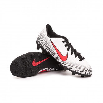 Bota  Nike Mercurial Vapor XII Club FG Neymar Jr Niño White-Challenge red-Black