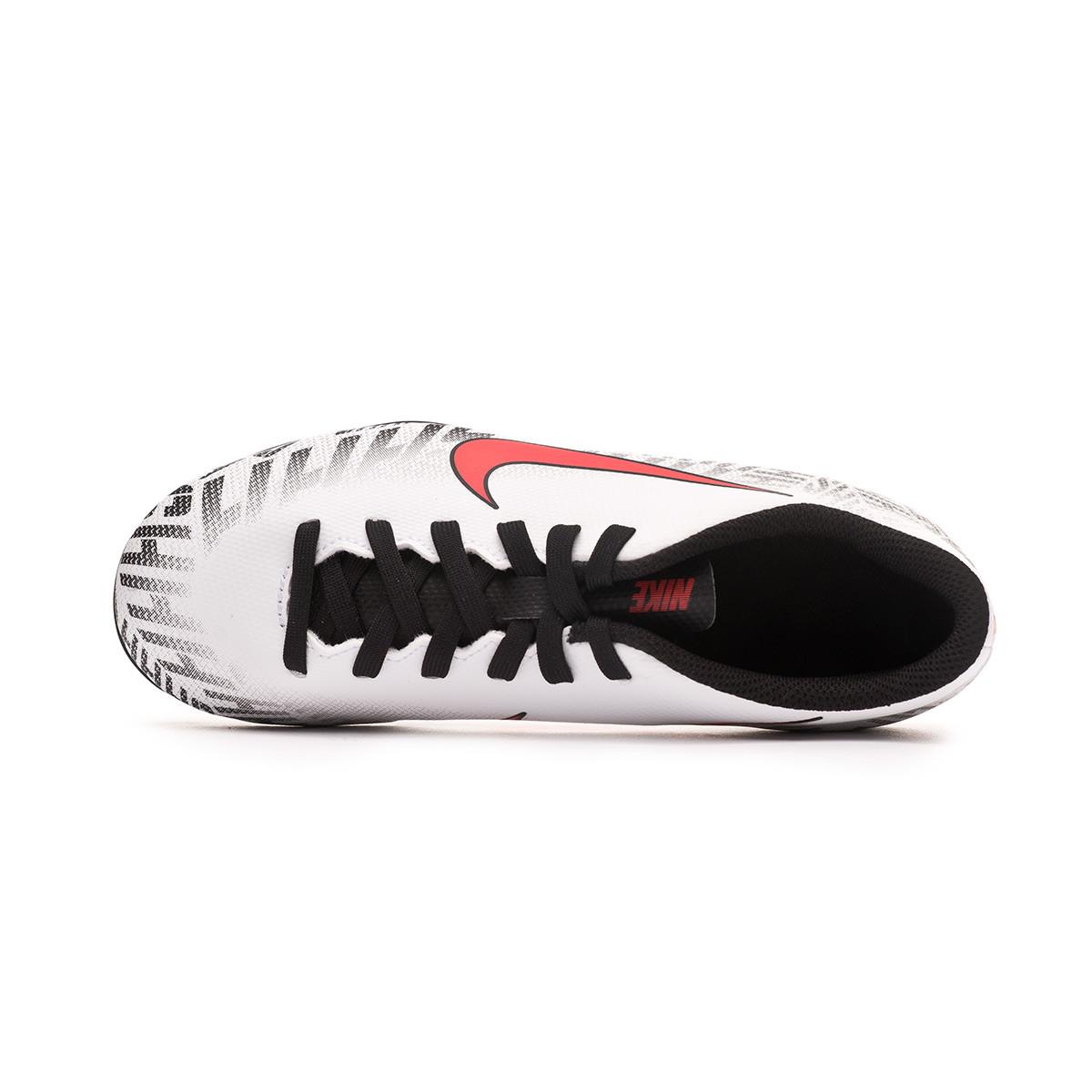 5f4fcd3e8b9 Football Boots Nike Mercurial Vapor XII Club FG Neymar Jr Niño  White-Challenge red-Black - Football store Fútbol Emotion