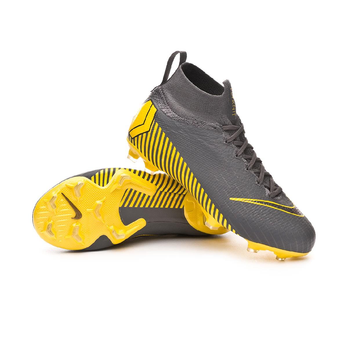 best sneakers 07b52 1cc04 Bota Mercurial Superfly VI Elite FG Niño Dark grey-Black