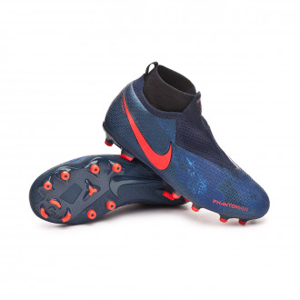 half off 7f862 f700c Bota Nike Phantom Vision Elite DF FG MG Niño Obsidian-Black-Blue void