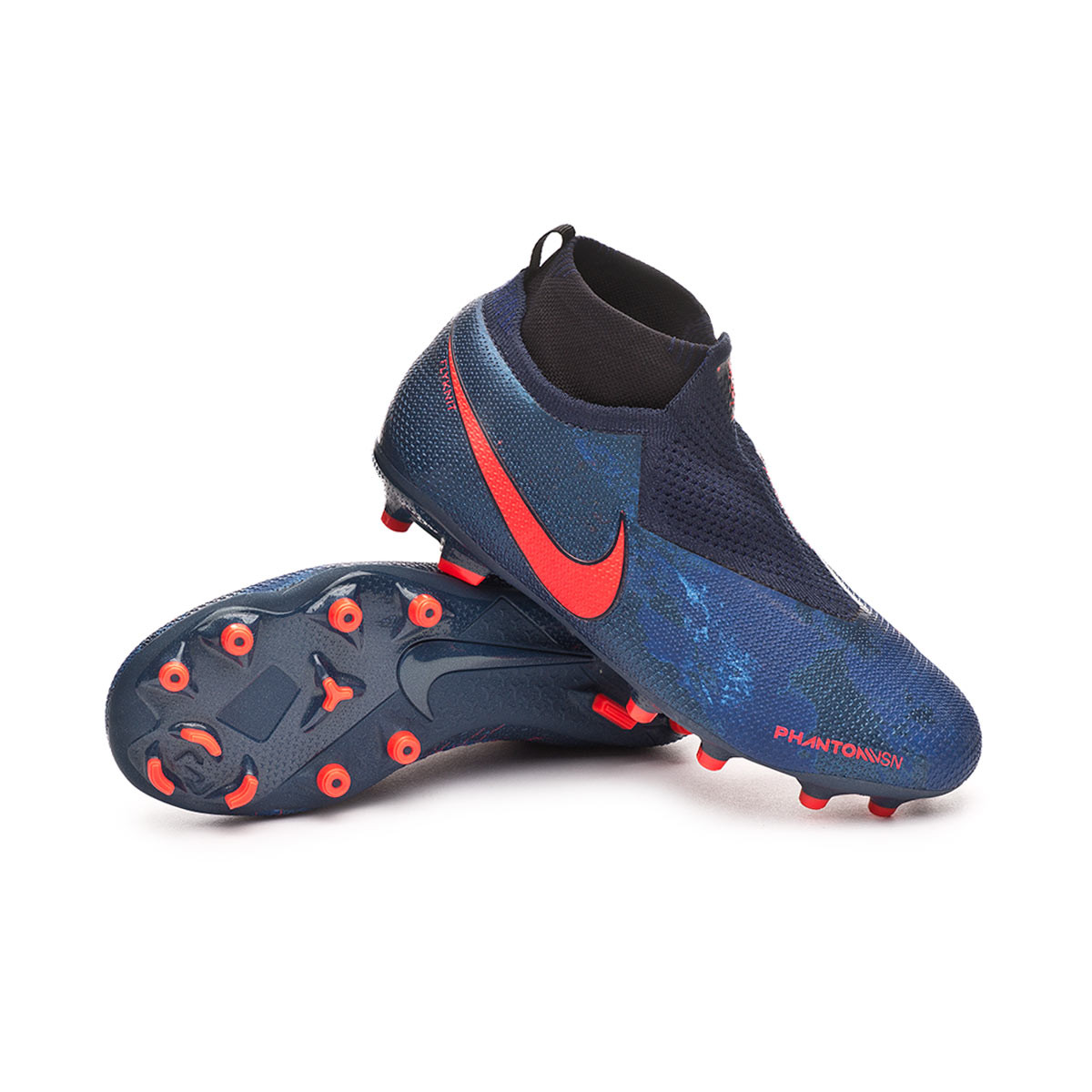 79ce93e6f Nike Phantom Vision Elite DF FG MG Niño Football Boots. Obsidian-Black-Blue  void ...