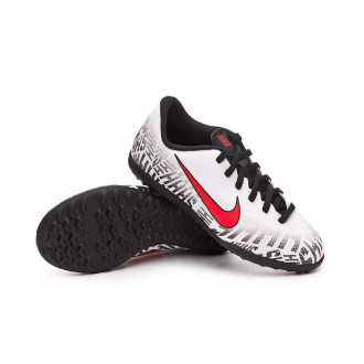 Zapatilla  Nike Mercurial Vapor XII Club Neymar Jr Turf Niño White-Challenge red-Black
