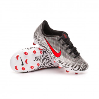 Chaussure de foot  Nike Mercurial Vapor XII Academy MG enfant White-Challenge red-Black