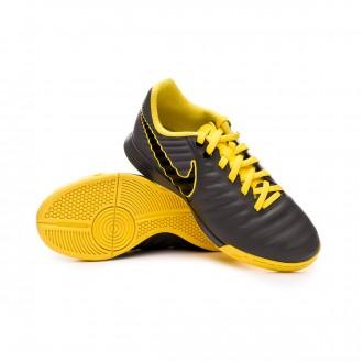 Futsal Boot  Nike Tiempo LegendX VII Academy IC Niño Dark grey-Black-Optical yellow