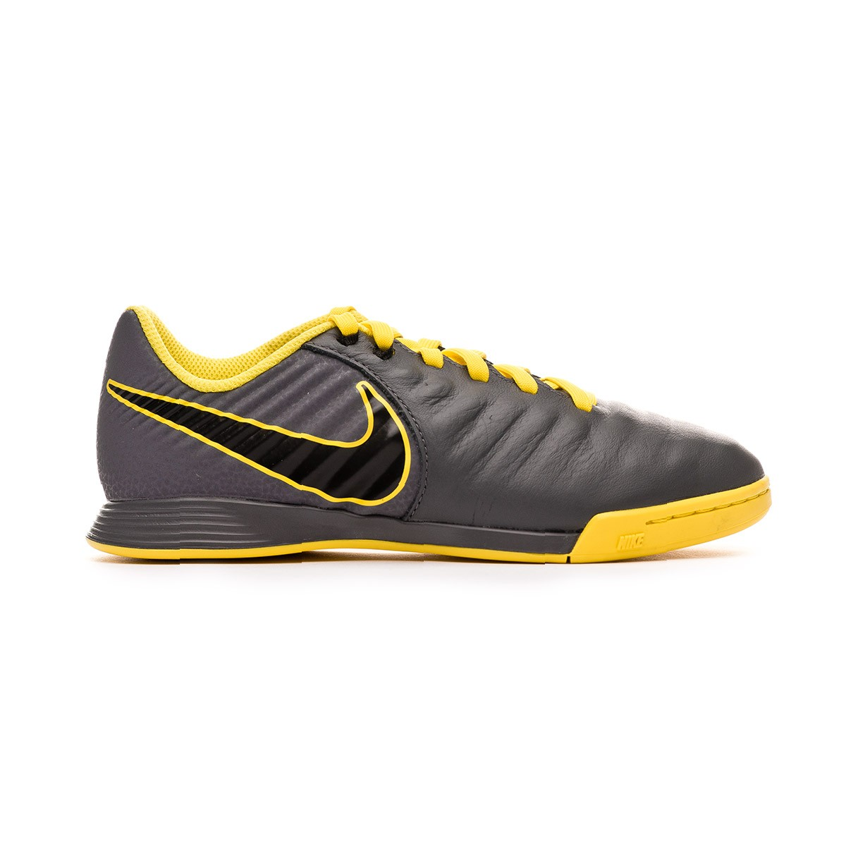 a361d3ebbd9 Futsal Boot Nike Tiempo LegendX VII Academy IC Niño Dark grey-Black-Optical  yellow - Football store Fútbol Emotion